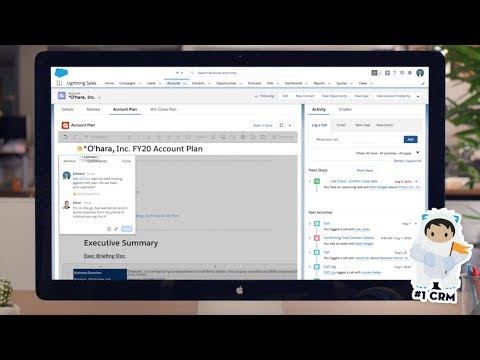 Quip for Salesforce Overview Demo - YouTube