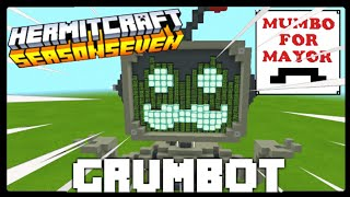 I BUILT GRUMBOT IN MINECRAFT!! #MumboForMayor #Hermitcraft7