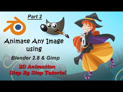 #2 How to make 2D animation with Blender 2.8 & Gimp (EN/AR subs) thumbnail
