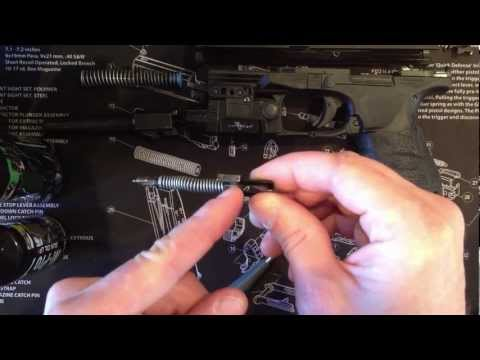 Taking apart and cleaning  Walther PPQ Firing pin (striker assembly )