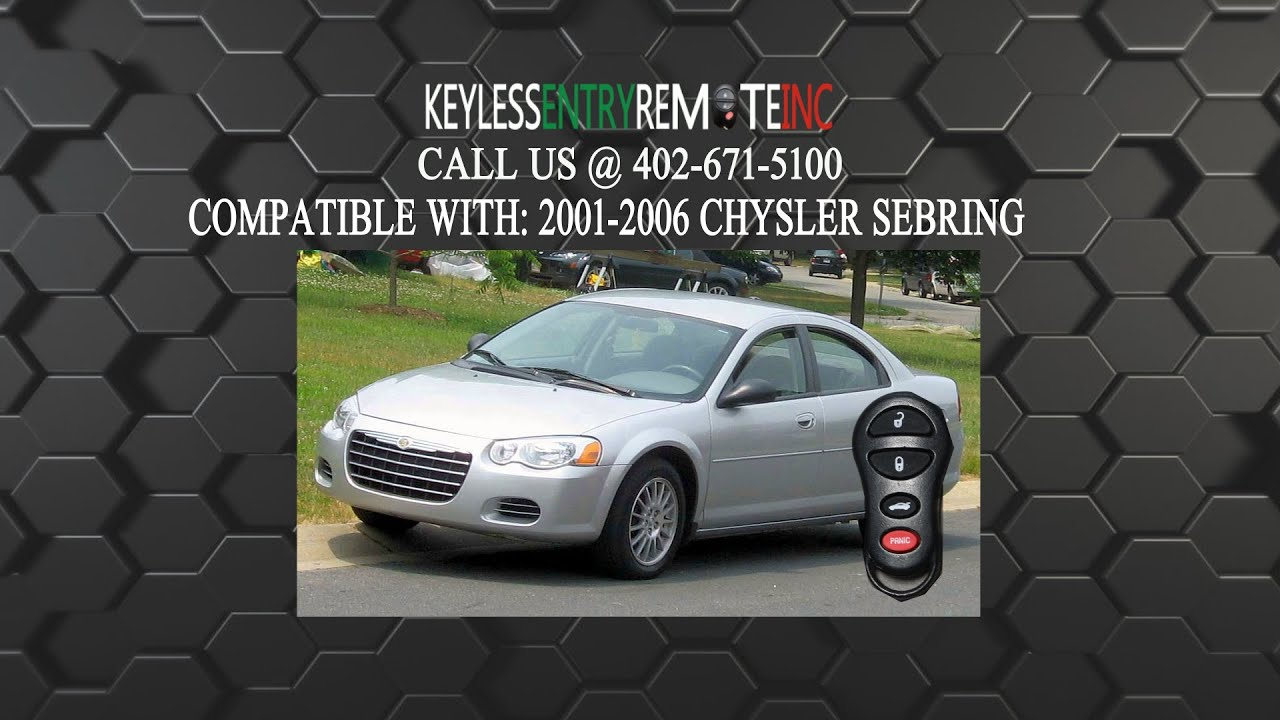 How To Replace Chrysler Sebring Key Fob Battery 2001 2002 2003 2004 2005 2006