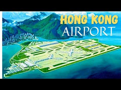 Hong Kong International Airport Interiors Landing Takeoff *HD*
