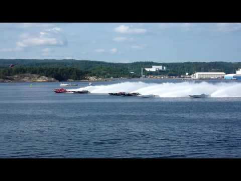Offshore World Power Boat Championship Class 1 Uddevalla, First Start Saturday