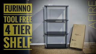 Furinno 4-Tier Shelf:  Assembly & Review