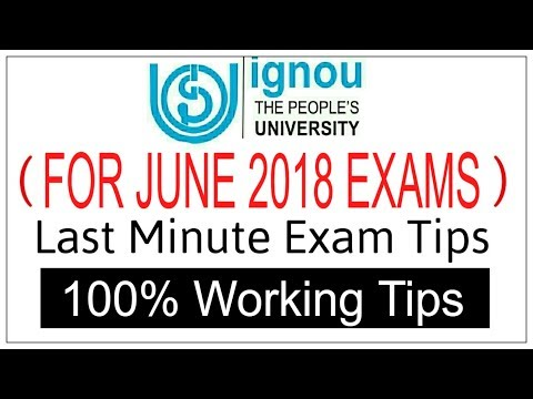 LAST MINUTE STUDY TIPS FOR IGNOU STUDENTS || IGNOU DECEMBER EXAM  ||