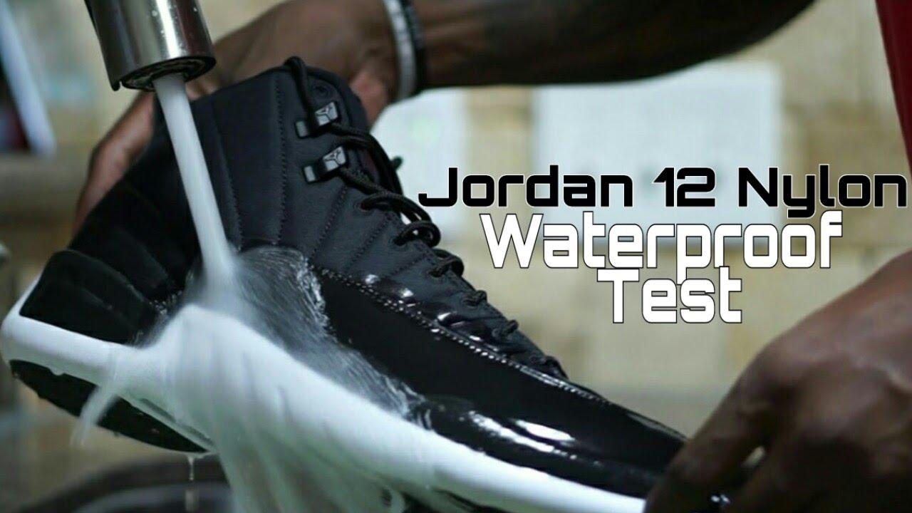 online store f38b3 32086 WATERPROOF TEST: JORDAN 12 NYLON NEOPRENE IS IT REALLY WATERPROOF?? |  COMEDY SKIT