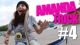 AMANDA TRICK #4 - SURPRESA PARA AMANDA + PRECONCEITO COM SKATE FEMININO - SKATE