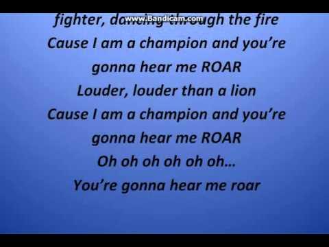 Katy perry - Roar (Lyrics video)