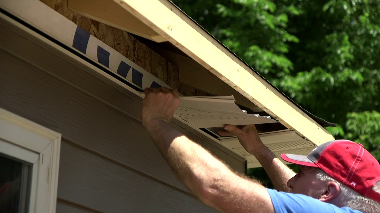 Soffit Installation Soffit Panels Youtube