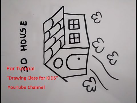 How To Draw 3 D House Step By Step Tutorial For Kids Youtube