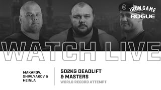 Full Live Stream | Heinla, Makarov & Shivlyakov Deadlift Record Attempt