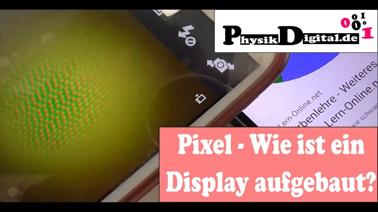 Aufbau Display Additive Farbmischung Pixel (physikdigital.de) - YouTube
