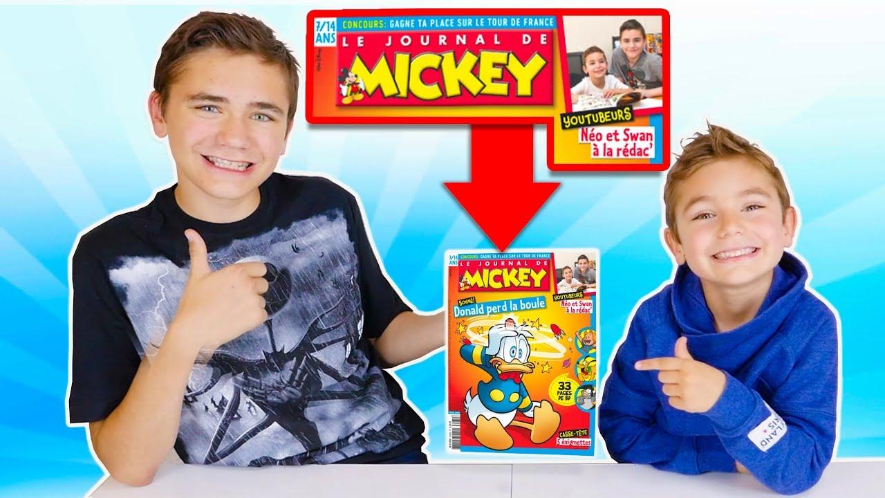 SWAN & NÉO DANS LE JOURNAL DE MICKEY !!! - Les Coulisses de la Rédaction
