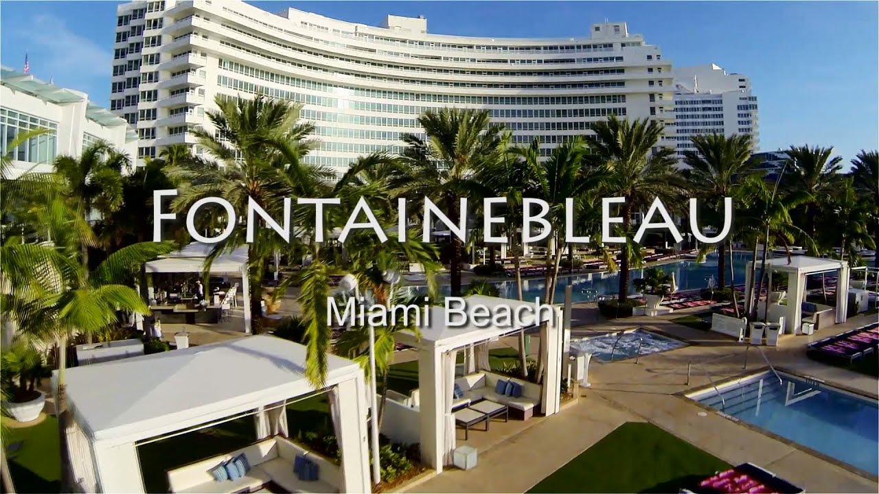 Fontainebleau Hotel Aerial Miami Beach During A Promotional Photo Shoot