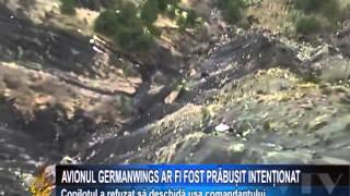 Avionul Germanwings ar fi fost prabusit intentionat