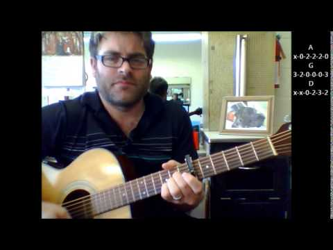 """How to play """"Sledgehammer"""" by Peter Gabriel on acoustic guitar"""