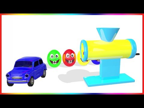 Thumbnail: Learn Colors with Surprise Eggs Car Making Machine Toy Appliance | Colours with Vehicles