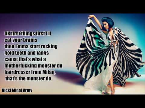 Nicki Minaj - Monster (Lyrics)