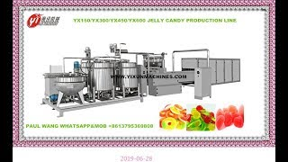 USA CUSTOMER'S SITE INSTALLATION VIDEO FOR YX300 JELLY CANDY HARD CANDY 2 IN 1 PRODUCTION LINE