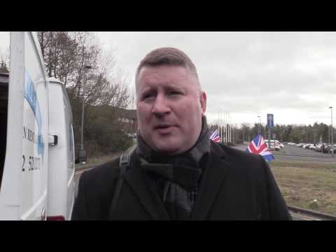 Britain First demonstrate in Telford