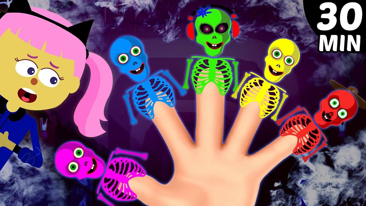 Skeleton Emotions Finger Family | Halloween Finger Family Songs and more | Hoopla Halloween