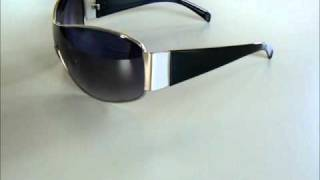 Uber-cool Black Aviator Shield Sunglasses Showcase