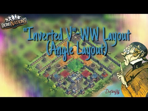 #532. DomiNations 6. Base Layout Industrial Age (Angle- /Inverted V-Layout)