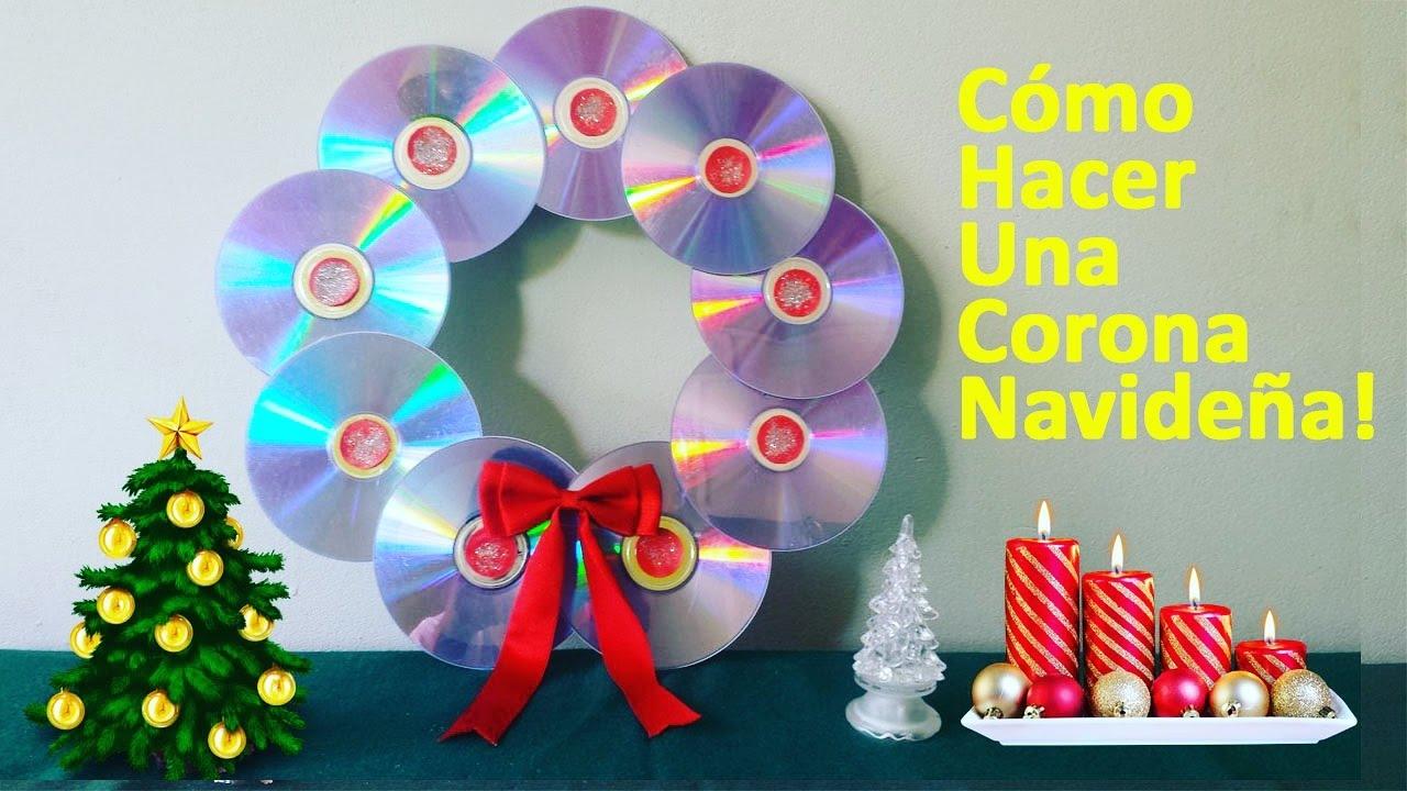 Como hacer una corona navide a r pido y f cil decoraci n para navidad youtube - Como hacer coronas navidenas ...