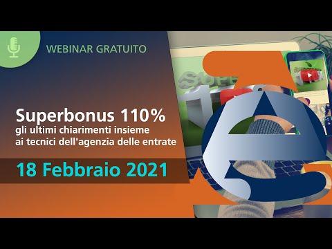 Superbonus 110% gli ultimi chiarimenti insieme ai tecnici dell'Agenzia delle Entrate