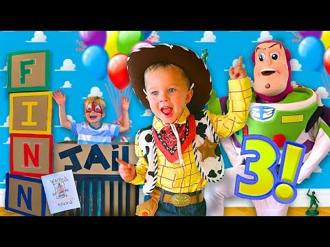 TOY STORY BIRTHDAY PARTY SURPRISE!  (Finn Turns 3 Birthday Special!)