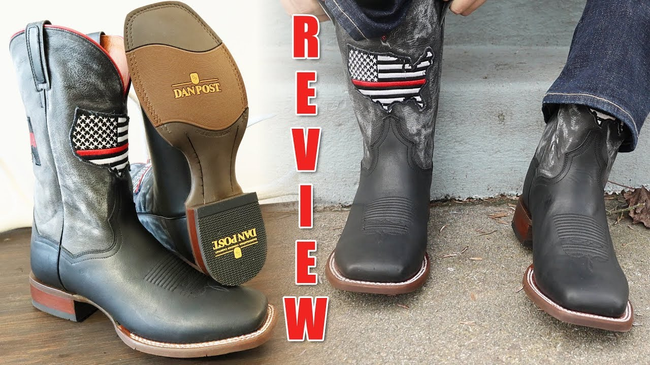 8d24526859b Dan Post Thin Red Line Cowboy Boots Review
