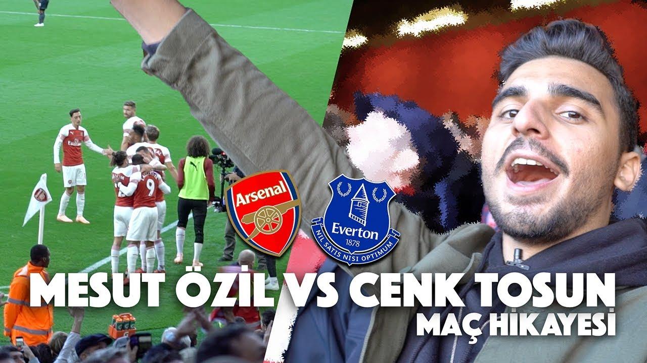 ARSENAL - EVERTON MAÇINA GİTTİM! | Mesut Özil vs Cenk Tosun | Premier Lig Maç Hikayesi