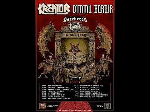 Kreator and Dimmu Borgir Euro co-headlining tour w/ Hatebreed and Bloodbath..!