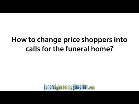 How to Win Funeral Home Price Shoppers