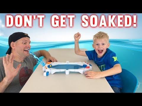 HydroStrike Game vs My Dad! Watch me SOAK HIM!! |