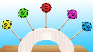 Soccer Ball Lollipops Learn Colors Finger Family Song Nursery Rhymes for Kids Colours Learning