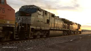 Westbound into the Sunset -- BNSF Gallup, New Mexico, 12 Feb 2019