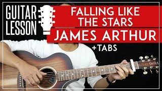 Falling Like The Stars Guitar Tutorial James Arthur Guitar Lesson 🎸|Fingerpicking + Easy Strumming| Video