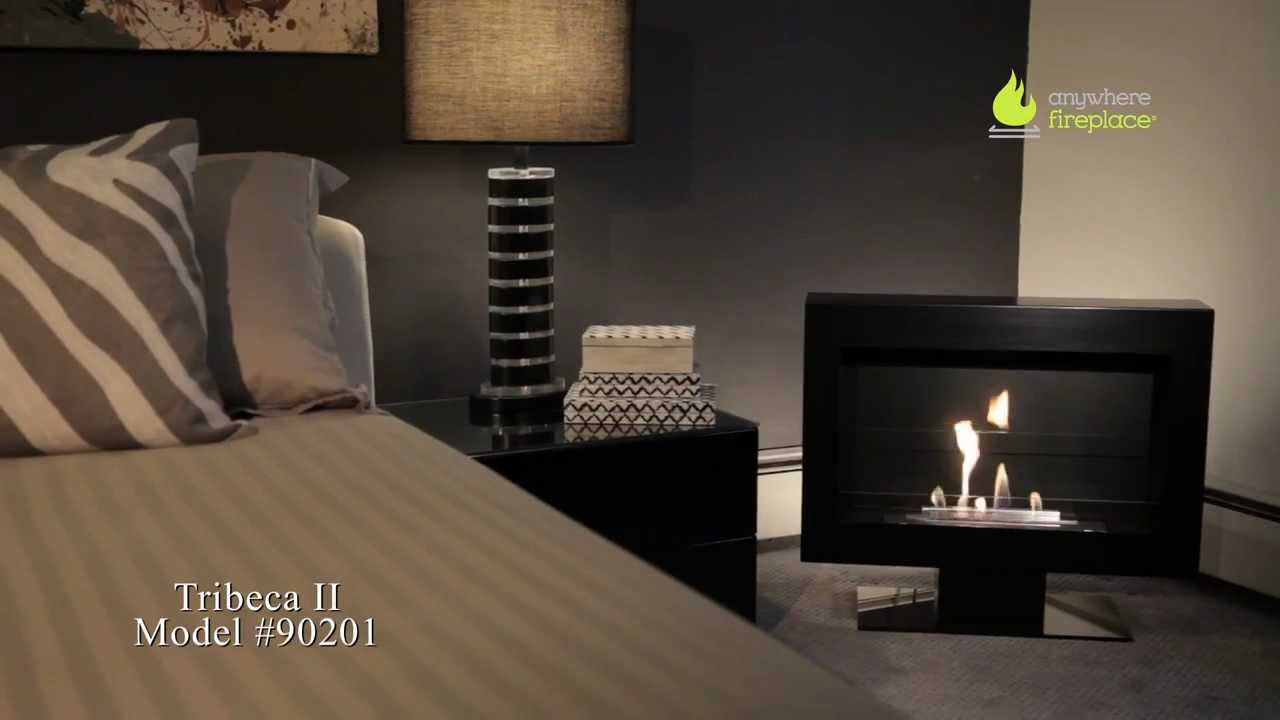 Anywhere Fireplace  Tribeca II Model BioEthanol Ventless Fireplace  YouTube