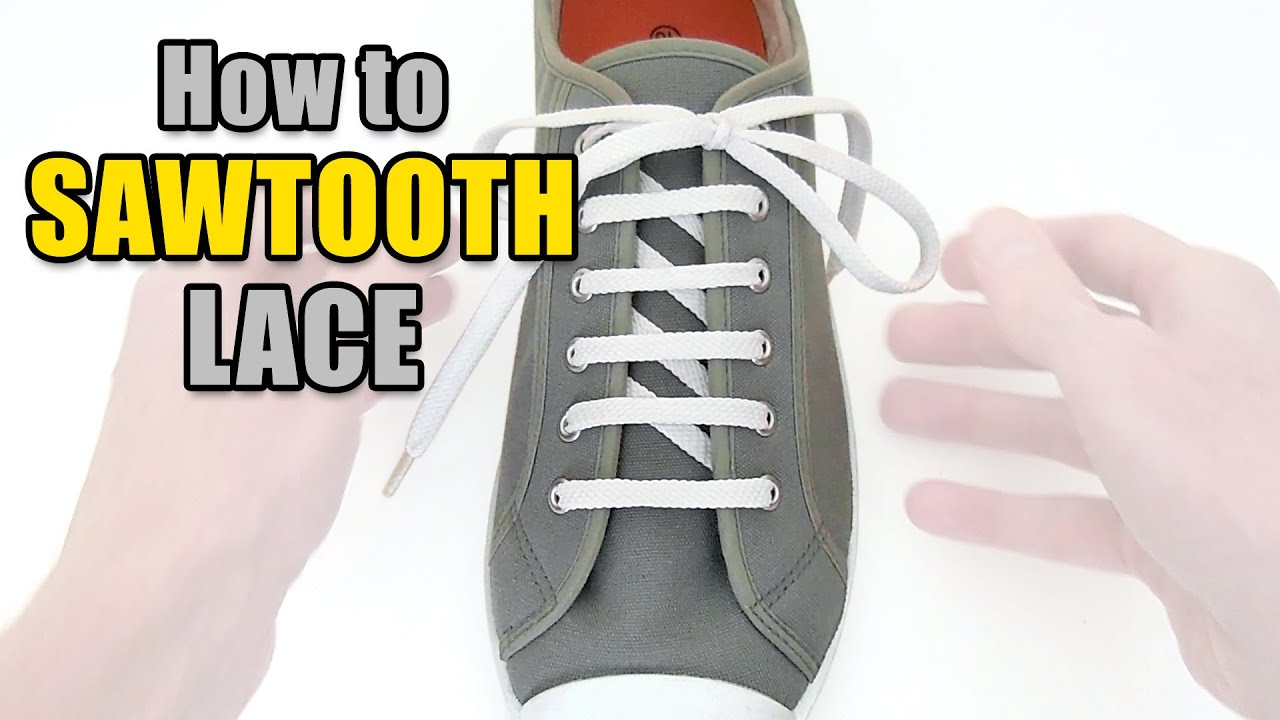 e47859374 How to Sawtooth Lace your shoes - Professor Shoelace - YouTube