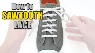 How to Sawtooth Lace your shoes - Professor Shoelace