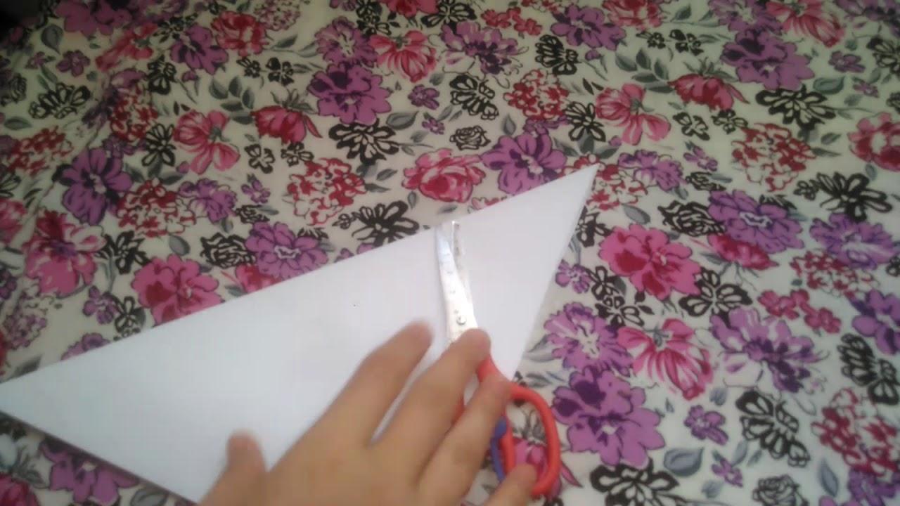 Оригами как сделать рамку для картинки из бумаги - YouTube
