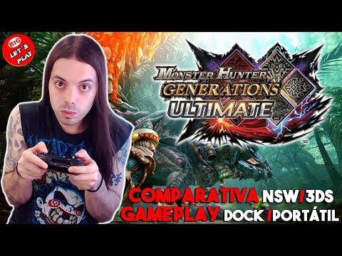 MONSTER HUNTER GU ¿MERECERÁ la PENA en SWITCH? | Gameplay Dock/Portatil - Comparativa NSW/3DS