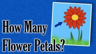 How Many Petals On The Flower?   spring counting game
