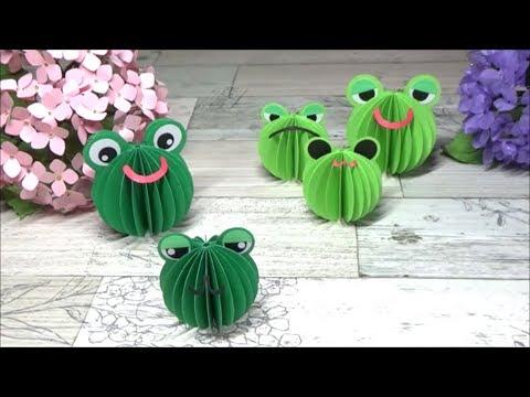 (ペーパークラフト)画用紙・コピー用紙でカエルの作り方【DIY】(Paper Craft) Frog