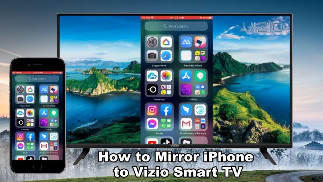 How to Mirror iPhone to Vizio Smart TV - YouTube