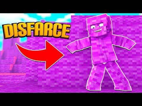 Minecraft: DISFARCE DE LÃ ROSA  - (Esconde-Esconde)