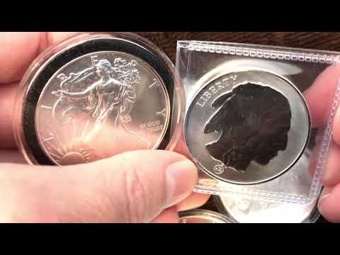Silver Eagle Coins Or Generic Rounds When Silver Spot Price Is Low?