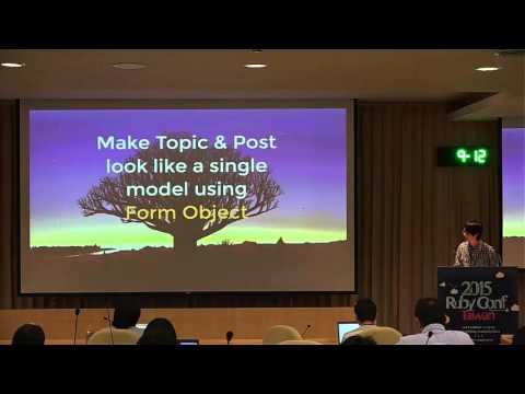 RubyConf Taiwan 2015 Day2 R2 06 lulalala:Rewriting an imageboard
