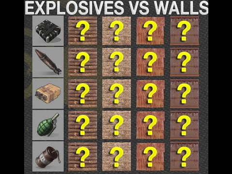 Explosives Vs Walls Rust Guide 1 Youtube